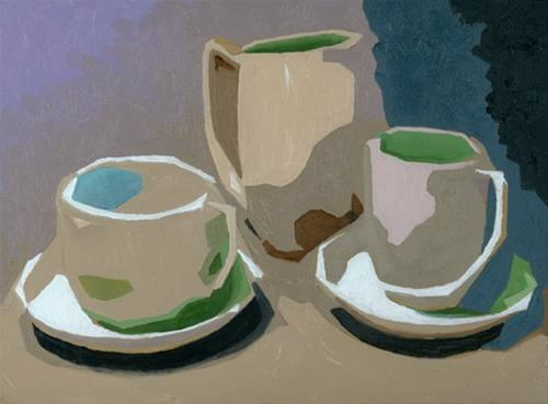 """CUPS AND PITCHER"" original fine art by Nancy Herman"