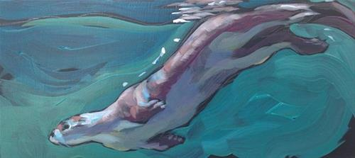 """Slide"" original fine art by Kat Corrigan"
