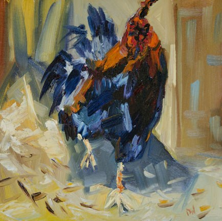 """100 DAYS OF Wildlife #9 Rooster in the House. Diane Whitehead Fine Art"" original fine art by Diane Whitehead"