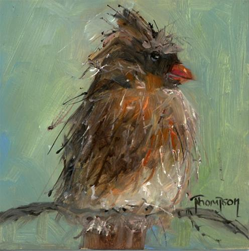"""Brown Bird"" original fine art by Norma Thompson"