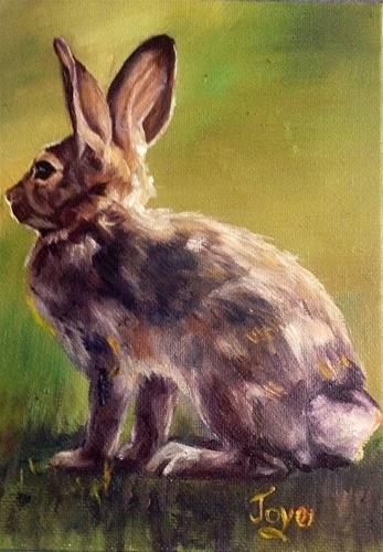 """Killer Dust Bunny by Joye DeGoede"" original fine art by Joye DeGoede"