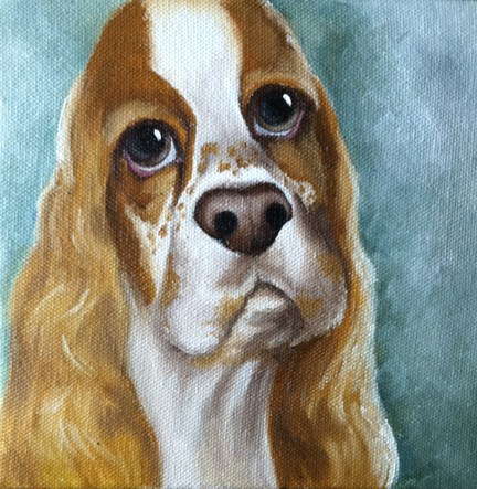 """Lil Dickens"" original fine art by Elaine Lynest"