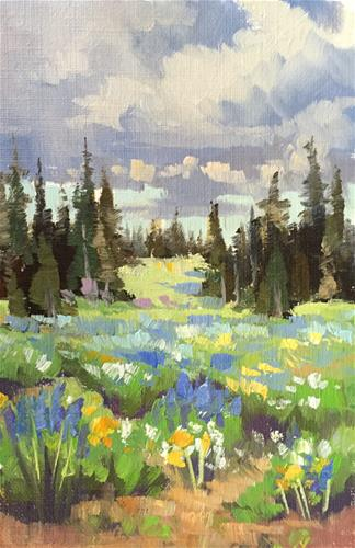 """Spring Flowers - Cedar Breaks 3"" original fine art by Mary Jabens"