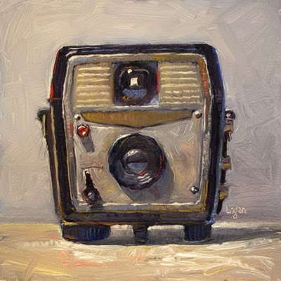 """Ansco Cadet Camera"" original fine art by Raymond Logan"
