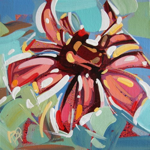 """Flower Abstraction 223"" original fine art by Roger Akesson"