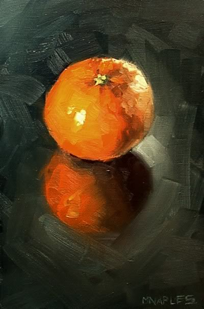 """Clementine with Reflection"" original fine art by Michael Naples"