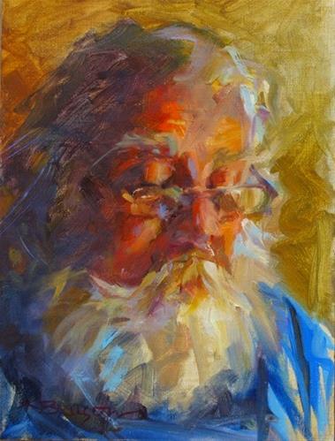 """Blue Overalls"" original fine art by Karen Bruson"