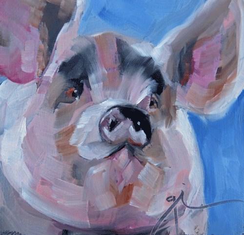 """""""Wilbur"""" original fine art by Gigi ."""
