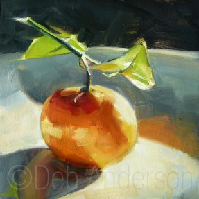 """Oil Painting: Mandarin Orange"" original fine art by Deb Anderson"