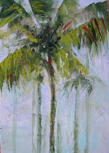 """Palms, Landscape Paintings by Arizona Artist Amy Whitehouse"" original fine art by Amy Whitehouse"