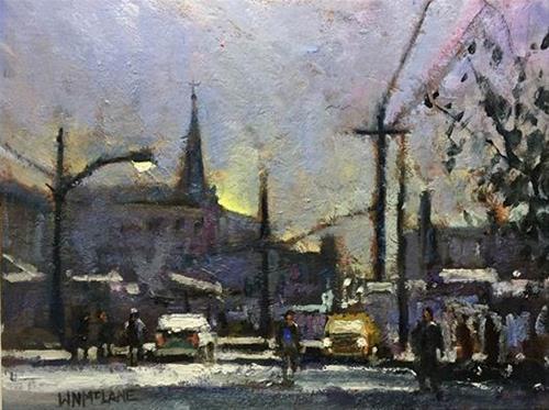 """In the Dawn"" original fine art by William  McLane"