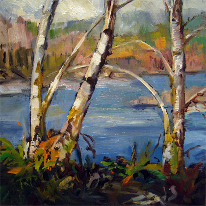 """By the River"" original fine art by Robin Peterson"