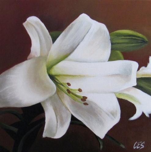 """Easter Lily"" original fine art by ~ces~ Christine E. S. Code"