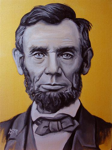 """Honest Abe"" original fine art by Gretchen Matta"