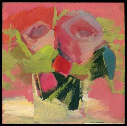 """""""2592 studio visit"""" original fine art by Lisa Daria"""