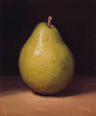 """D'Anjou Pear"" original fine art by Abbey Ryan"