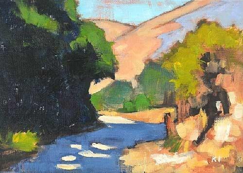 """Laguna Canyon"" original fine art by Kevin Inman"