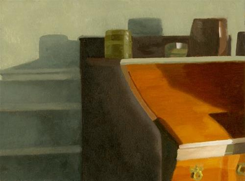"""The Desk"" original fine art by Nancy Herman"