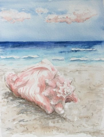"""Ocean Gives"" original fine art by Crisynda Buss"