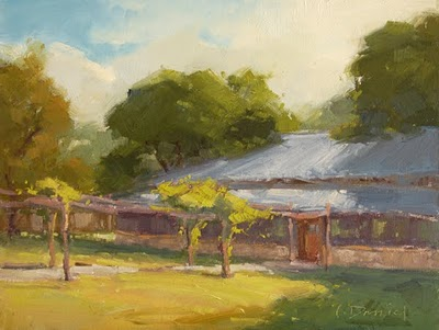 """Country Pavilion"" original fine art by Laurel Daniel"