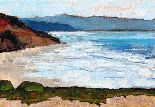 """Del Mar Beach Painting"" original fine art by Kevin Inman"