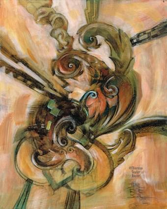 """Emergence"" original fine art by Theresa Taylor Bayer"