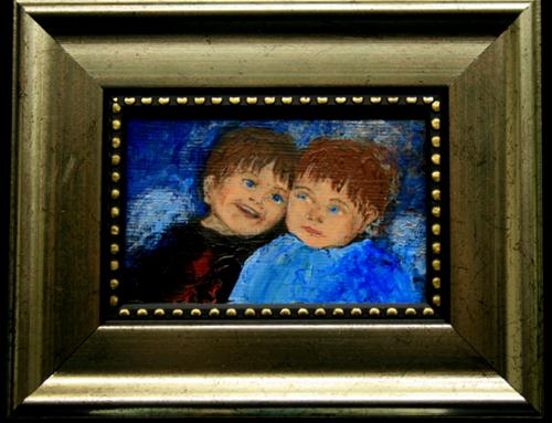 """Lil' Christmas Angels"" original fine art by Jean Nelson"