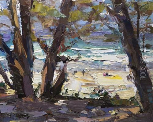 """See Through – Mid Day Sunny Carmel Beach"" original fine art by Roos Schuring"