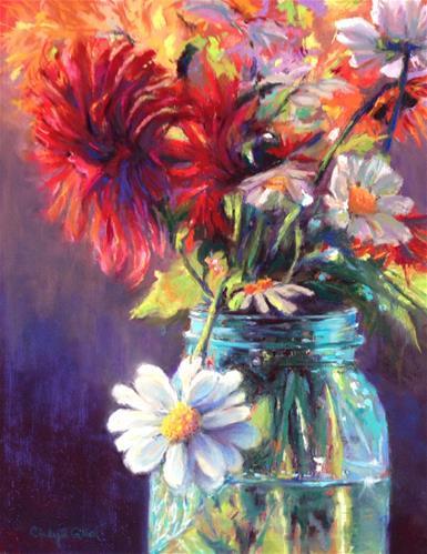 """Stray Daisy"" original fine art by Cindy Gillett"