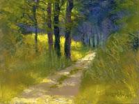 """""""Park Trail #9"""" original fine art by Rita Kirkman"""