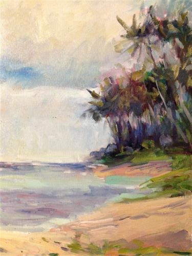 """Kahala Beach"" original fine art by Yvonne Manipon"