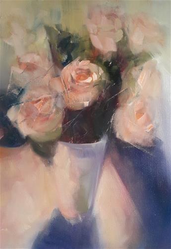 """""""Roses"""" original fine art by Rentia Coetzee"""