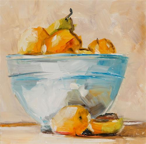 """Fruit Bowl"" original fine art by Aniko Makay"