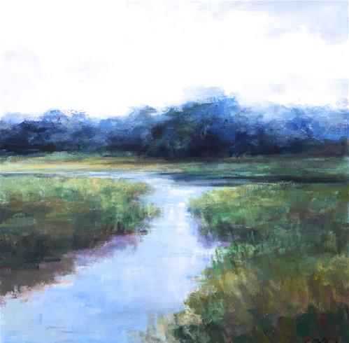 """Lowcountry Blues"" original fine art by Christina Dowdy"