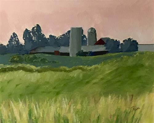 """Farmhouse"" original fine art by Reisa Peters"