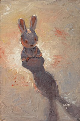 """Bad Bunny"" original fine art by Raymond Logan"