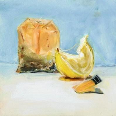 """""""Tea bag & Lemon"""" original fine art by Sunny Avocado"""