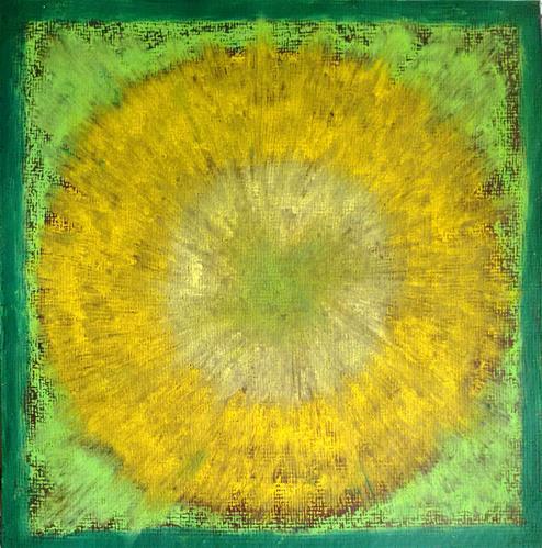 """""""Sun Mandala"""" original fine art by Adéla Svobodová"""