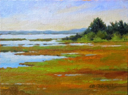 """'Chappaquiddick Marshes' An Original Oil Painting by Claire Beadon Carnell 30 Paintings in 30 Days C"" original fine art by Claire Beadon Carnell"
