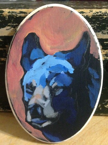 """Gruntled"" original fine art by Kat Corrigan"