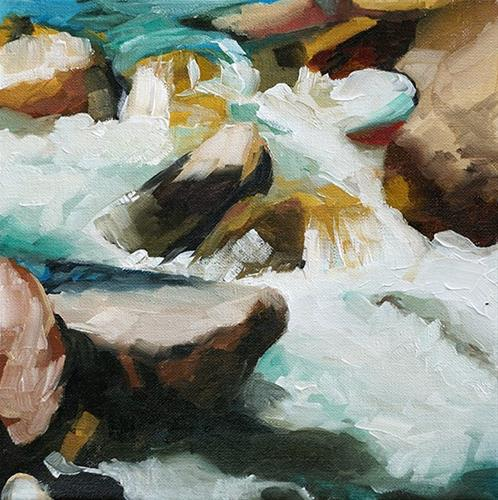 """Poudre River Whitewater"" original fine art by Catherine Van Berg"