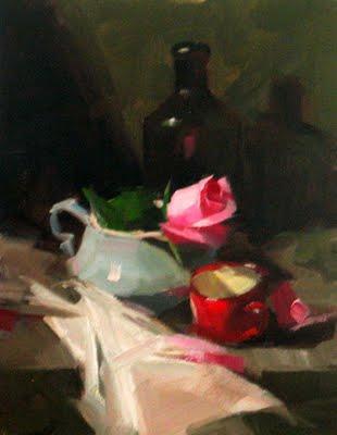 """Demo at Granbury 2 --- Sold"" original fine art by Qiang Huang"