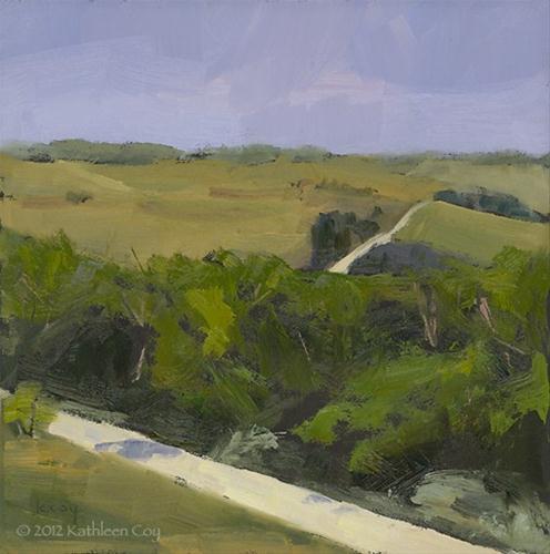 """Hills of Iowa"" original fine art by Kathleen Coy"