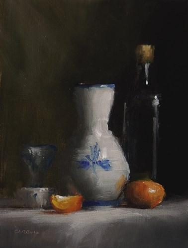 """""""Still Life with Vase"""" original fine art by Neil Carroll"""