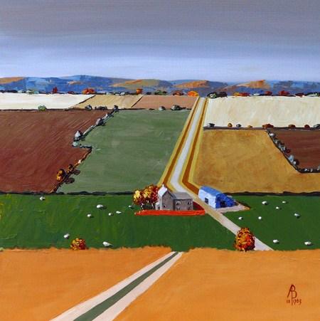 """Autumn zigzag"" original fine art by Alix Baker"