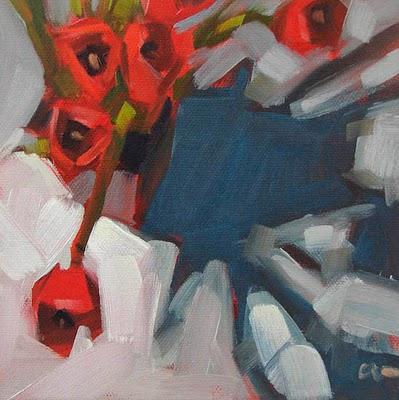 """Tulips Shadow --- SOLD"" original fine art by Carol Marine"