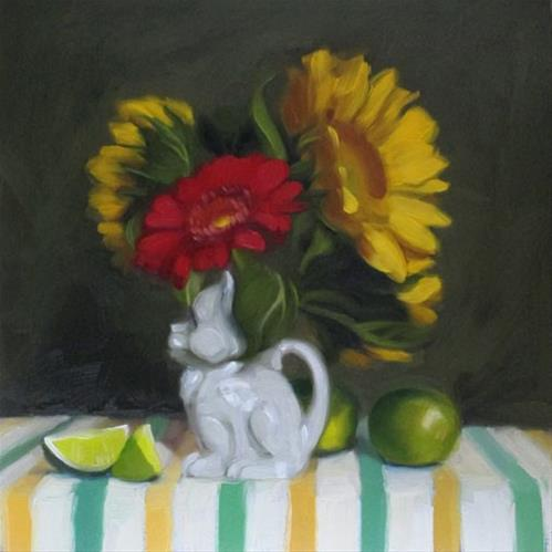 """Kitty Pitcher preparing for Gallery + debut at 78th"" original fine art by Diane Hoeptner"
