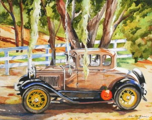 """Wayne's Antique Car"" original fine art by JoAnne Perez Robinson"
