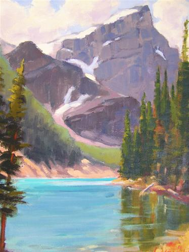 """Glacier Lake"" original fine art by Deborah Newman"