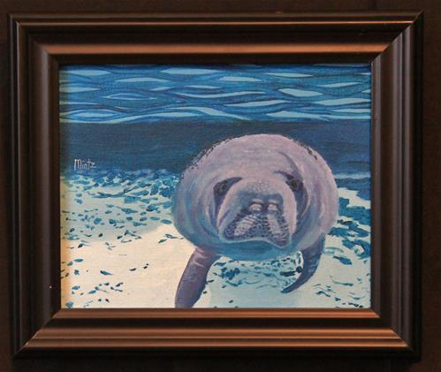"""Manatee"" original fine art by Alan Mintz"